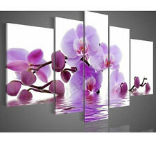 Hand-painted Purple Flowers Water Side Home Decoration Abstract Canvas Oil Paint