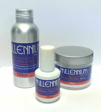 MILLENNIUM ACRYLIC STARTER KITWITH CHOICE OF POWDER100ML LIQUID 15ml PRIMER