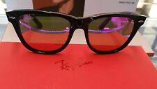 100% RAY BAN SUNGLASSES RB2140 1174/4T BLACK 54mm MIRROR COATING MADE IN ITALY
