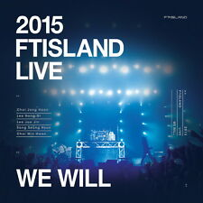 2015 FTISLAND LIVE [We Will] TOUR *Limited Edition*  2 DVD+Photobook+Poster NEW