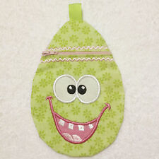In-The-Hoop ZIP BAG * EASTER EGG 1 * Machine Embroidery Patterns * 5x7in hoop