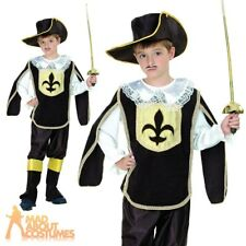 Child Musketeer Costume Boys French Cavalier Book Week Day Fancy Dress Outfit