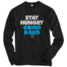 Stacked Long Sleeve T-shirt LS - Stay Hungry Grind Hard Hustle Money - Men S-4X