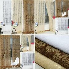 2Pcs 100*200cm Europe Style Floral Pattern Window Curtains Door Voile Drape I7M9