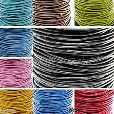 3/10/100Meter Charms Real Leather Necklace Rope String Cord 1.5/2.0 mm Any Color