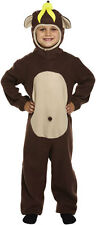 Child Monkey Onesie Costume Kids Animal Jungle Ape Book Week Fancy Dress Outfits