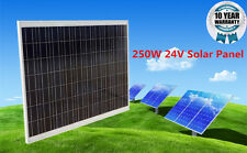250W Watt 24V Volt Poly Solar Panel Off Grid System for Boat Caravan RV Charger