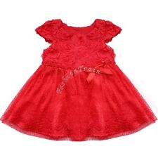 Newborn Baby Girls Toddlers Clothes Wedding Birthday Party Holiday Flower Dress