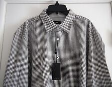 HUGO BOSS BLACK HUGO BOSS OBERT SHIRT Khaki Green White Check NWT 2XL