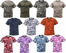 Rothco Army Tactical Digi Camo Military Style Camouflage T-Shirt Hunting Shirt