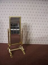 Dolls House Miniatures 1:12th Scale Gold Coloured Mirror on a stand D033  New
