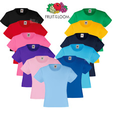 Fruit Of The Loom 61005 Girls Valueweight T-Shirt Short Sleeves Crew Neck Tops