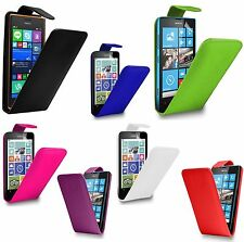 PU LEATHER FLIP CASE COVER FOR NOKIA LUMIA 530 + FREE SCREEN PROTECTOR