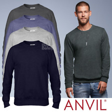 Anvil MEN'S SWEATSHIRT CLASSIC FIT FASHION STYLE FRENCH TERRY CREW NECK SWEAT