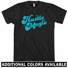 Hustle Magic Script T-shirt - Hustler Hustlin Entrepreneur Retro Rap - Men S-4XL