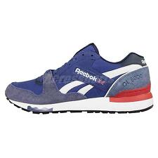 Reebok GL 6000 ND Navy Red Suede Mens Casual Shoes Sneakers Trainers V67798