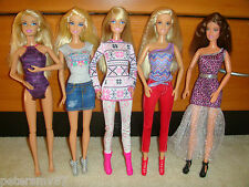BARBIE DOLLS BULK LOT OF 5 DOLLS FULLY CLOTHED IN EXCELLENT CONDITION LOT 20