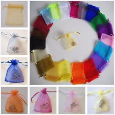 Premium Organza Wedding Favour Gift Bags JEWELLERY POUCHES 20 Colours 3 Sizes