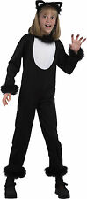 Kids Halloween Fancy Dress Party Kitty Cat Jumpsuit Complete Outfit Costume UK