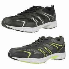 Mens Air Tech Black/ silver and Grey/Neon green trainers style GRAVITY
