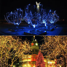 100 200 LED Solar Powered Fairy Light String Xmas Party Garden Wedding Outdoor