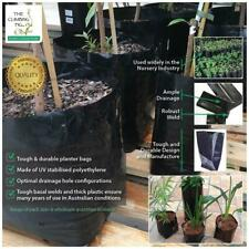 10 L Premium black poly, Planter Bags. Range of pack sizes. Citrus, plant, trees