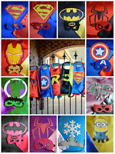 Superhero Batman Superman Spiderman Ironman Frozen MinionCostume (Kids or Adult)