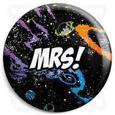 Mrs - 25mm Space Wedding Button Badge with Fridge Magnet Option