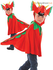 Childs Friendly Red Dragon Costume Boys Kids Fairytale Character Book Week Day