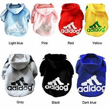 New Sporty Jacket Hoody Hoodie Dog Puppy Clothes Jumper For Small & Medium Dogs