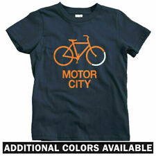 Bike Motor City Kids T-shirt - Baby Toddler Youth Tee - Detroit Cycling Bicycle