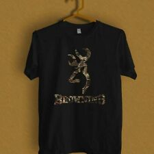 NEW BROWNING LOGO DESIGN ON BLACK black and white T-Shirt S M L XL 2XL 3XL