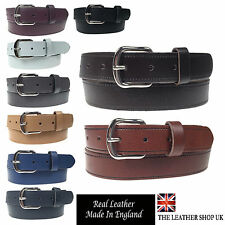 "New Quality Mens Womens 1.25"" Wide Real Leather 30mm Made In England Belt"