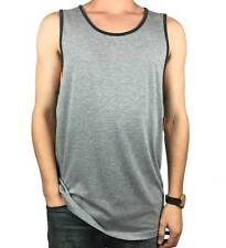 VANS. Off The Wall. Mens Authentic Singlet. Plain Grey / Blue. Large, X-Large.