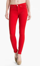 Women's Hudson Nico Mid Rise Super Skinny Jeans Red $189 NWT 10th Anniversary 25
