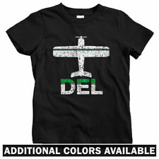Fly Delhi DEL Airport Kids T-shirt - Baby Toddler Youth Tee - New India Indian