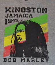 Bob Marley Kingston Jamaica 1945 RASTA TEE Zion Rootswear Licensed T-Shirt Adult