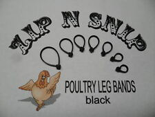 Black LEG BANDS (ONE) size fits (ALL) POULTRY Chicken Duck Turkey Pheasant Goose