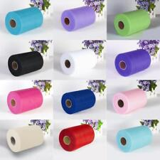 "100Yard 6"" Tulle Roll Spool Soft Tulle Fabric Bridal Wedding Gifts Decoration"