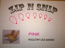 Pink LEG BANDS (ONE) size fits (ALL) POULTRY Chicken Duck Turkey Pheasant Goose