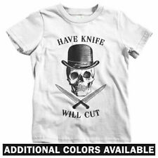 Have Knife Will Cut T-shirt - Baby Toddler Youth Tee - Skull Fight Thug Skate
