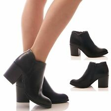 LADIES WOMENS CHELSEA BOOTS PLATFORM CHUNKY ANKLE BOOTS BLOCK HEEL SHOES SIZE