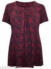 New Ex M&S Ladies 7 Pleat Jersey Short Sleeve Tunic Crop Top Dress Size 10 - 18