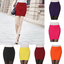 Sexy Mini Skirt Slim Seamless Stretch Tight Short Fitted Candy Dress Skirt Nice