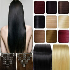 Direct Sale Clip in 100% Real Remy Human Hair Extensions Weft Full Head AU
