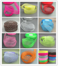 100Yards 25mm dot Satin Edge Sheer Organza Ribbon Bow Craft Wedding DIY