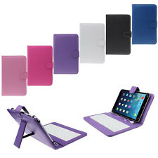 7 inch Universal Leather Stand Flip Case with Micro USB Keyboard For Tablet PC