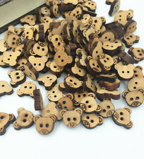 Mini Bulk Stylish Cute Bear Sewing Buttons Scrapbooking 2 Holes For Baby 13mm