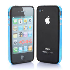 TPU Bumper Frame Silicone Skin Case With Side Button For iPhone 4 4S