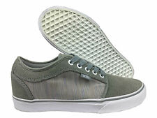 VANS. Chukka Low. Grey Canvas and Suede Shoe. Mens US Size 9.5